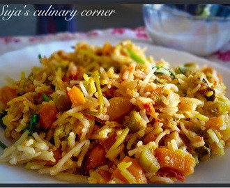 Hyderabadi Vegetable Dum Briyani