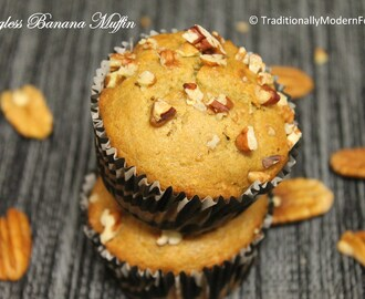Pecan Banana Muffins (Eggless & Whole Wheat)