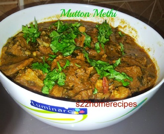 Mutton methi curry/Lamb curry with fenugreek leaves