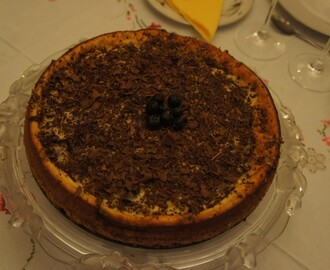Cheese cake de chocolate y arándanos
