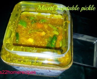 Mixed Vegetable Pickle in Mustard