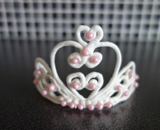 Tiara i royal icing