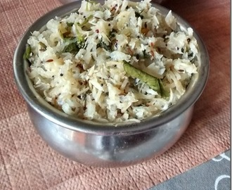Grated Radish Stir fry (Mullangi Poriyal)