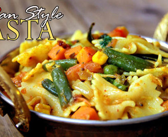Indian Style Pasta Recipe – Pasta Recipe for Kids Lunch Box | Spicy Indian Pasta Recipe