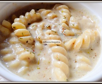 Pasta in cream style roasted mushroom sauce
