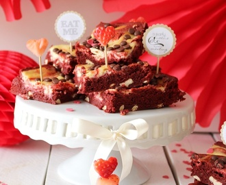 Red Velvet Brownies mit Cheesecake Swirl