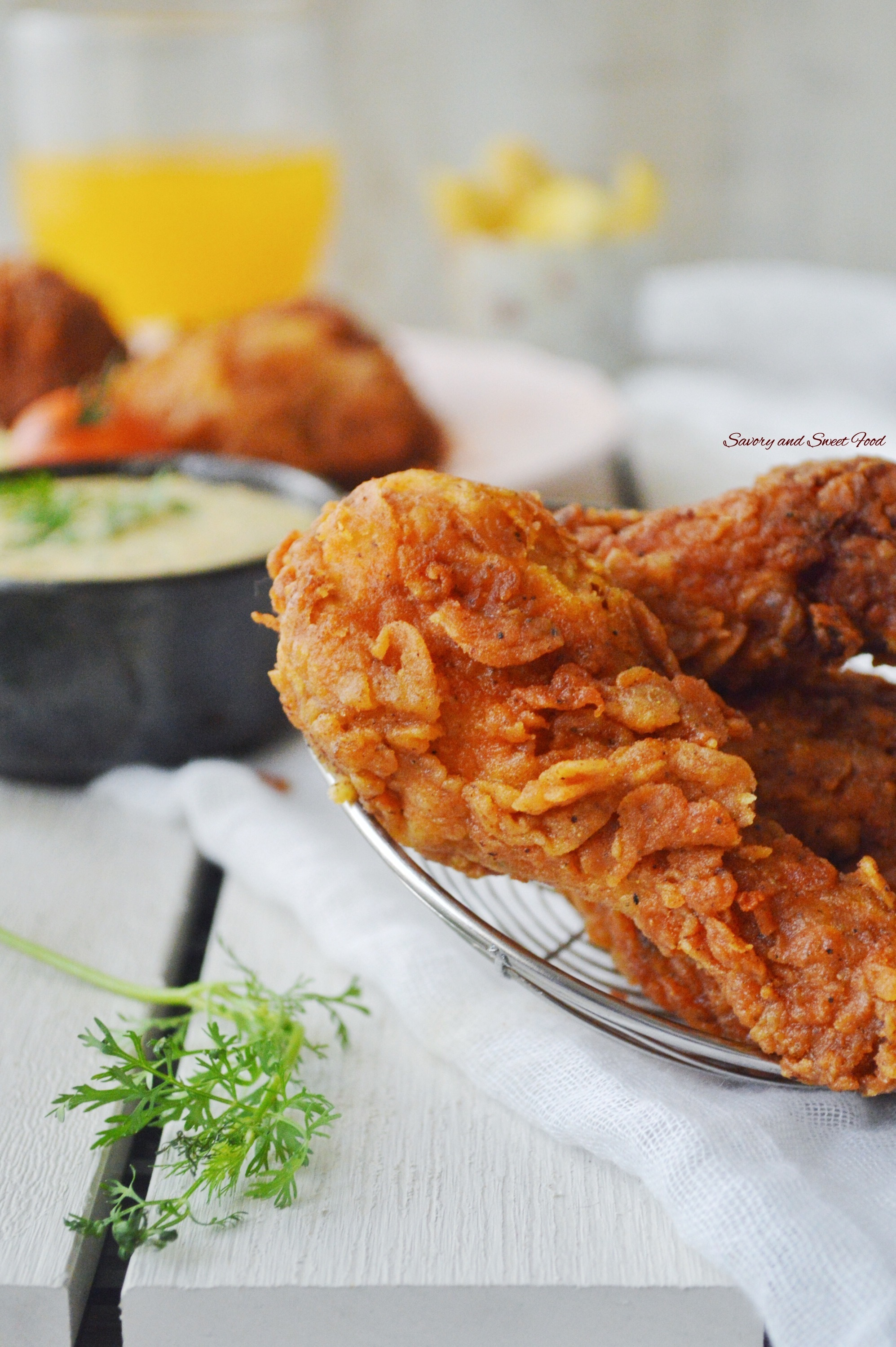 Tandoori Fried Chicken with Honey-Garlic Aioli