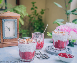Strawberry Chia pudding - Vegan Dessert