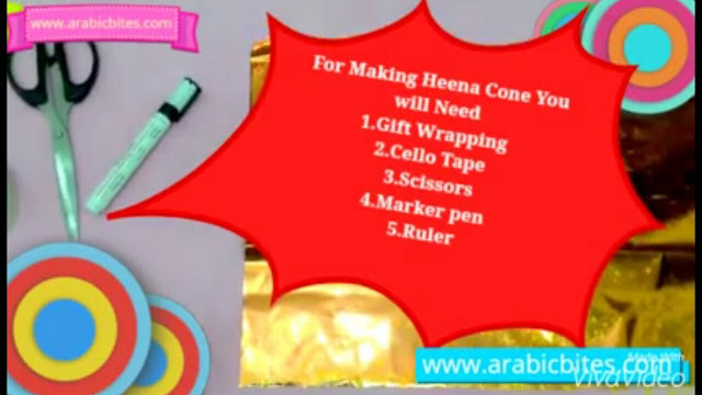 How to make Heena Cone at home With Gift Wrap