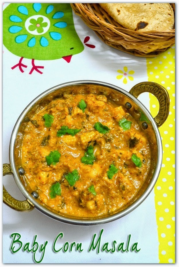 Baby Corn Masala Gravy Recipe - How to prepare baby corn masala