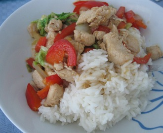 Chicken with stir-fried vegetables
