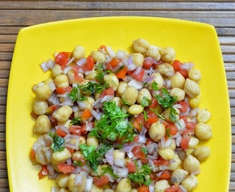 Chana Chaat Recipe - How to make Chana Chaat - Beach Side Chana chat