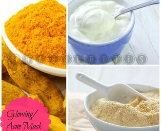 Gram Flour Turmeric Face Mask For Acne/Scar/Glowing Skin