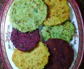Mini Vegetable Adais - Lentil, Rice And Vegetable Pancakes
