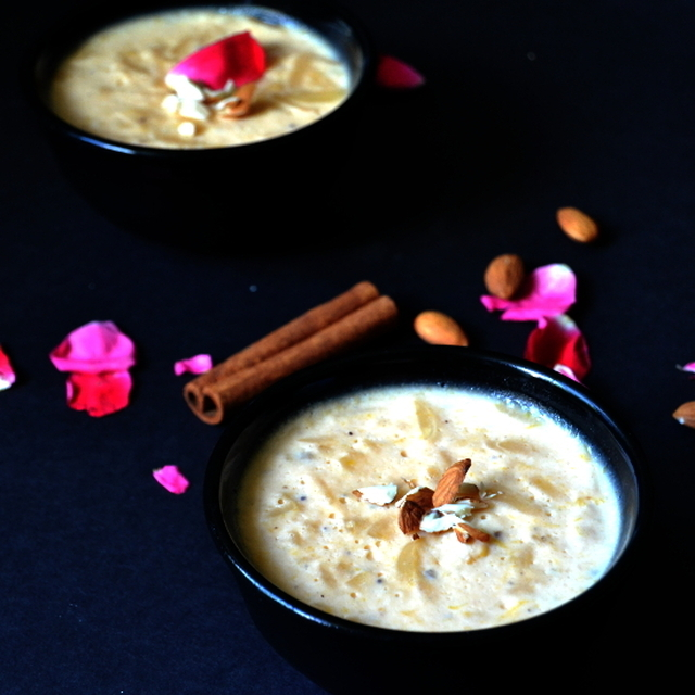 Mango Phirni | Aam Phirni | Mango Rice Pudding | Phirni With Rice Flour
