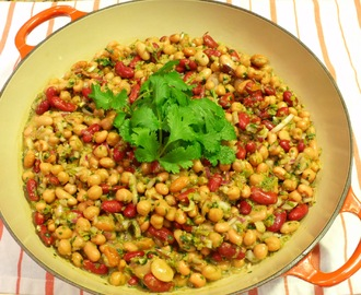 ...Three Bean Salad with Olive Cilantro Tapenade