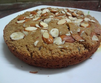 WHOLEWHEAT OATMEAL FLOUR ALMOND RAISIN CAKE  ( EGGLESS )