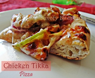 Homemade Chicken Tikka Pizza