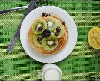 Lemon Pancakes - Eggless