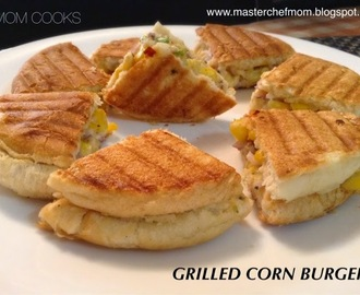 GRILLED CORN BURGERS