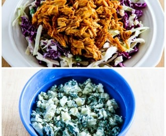 Slow Cooker Buffalo Chicken and Blue Cheese Cabbage Bowl