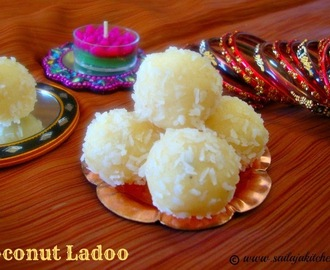 Coconut Ladoo / Dessicated Coconut Laddu / Quick Coconut Ladoos Using Condensed Milk