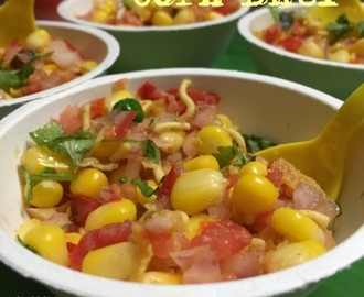 Corn Bhel - a healthy evening snack