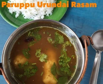 TamBrahm Style Paruppu Urundai Rasam | Lentil dumpling in Rasam | Howto make Paruppu Urundai Rasam | Traditional Recipe | With Stepwisepictures