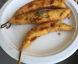 Stuffed Mirchi Pakora | How to make Mirchi Pakora | StuffedChilliFritters Recipe | Stepwise Pictures