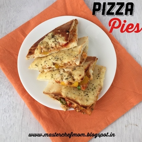 Pizza Pies | Stuffed Vegetable Pizzas | How to make Pizza Pies |Stepwise Pictures