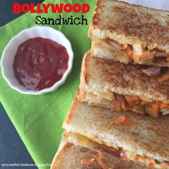 Bollywood Sandwich | How to make Bollywood Sandwich | Stepwise Pictures