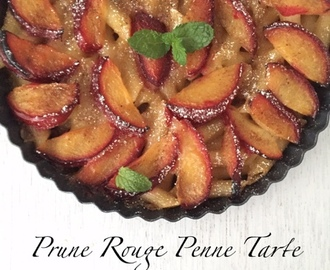 Prune Rouge Penne Tarte | Red Plum Penne Tart | How to make Prune RougePenne Tart| Stepwise Pictures