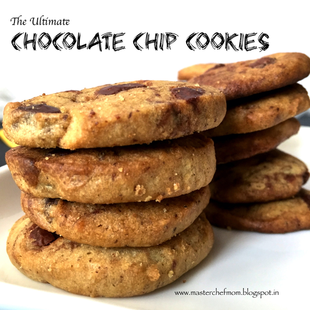 The Ultimate Chocolate Chip Cookies |An Eggless Recipe| How to makeChocolate Chip Cookies from Scratch | Stepwise Pictures