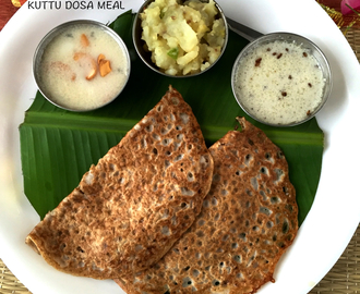 KUTTU DOSA MEAL  | Navratri Special Recipe #1 | Navratri Fasting Menu | How to cook for Navratri Vrat |  | Stepwise Pictures