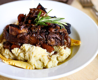 Braised Beef Short Ribs + Parsnip Puree, an adapted Ad Hoc recipe