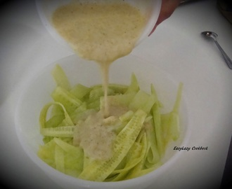 Cucumber salad with Green mango dressing