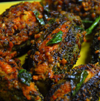 Bharwa Karela recipe, How to make Stuffed Bitter Gourd