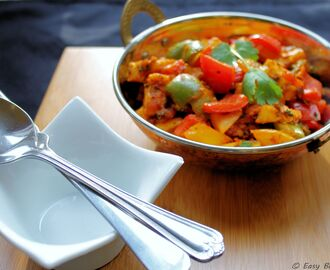 Paneer Capsicum | Indian cottage cheese cooked with peppers and spices