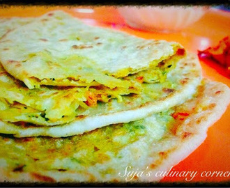 Cabbage Carrot Parathas