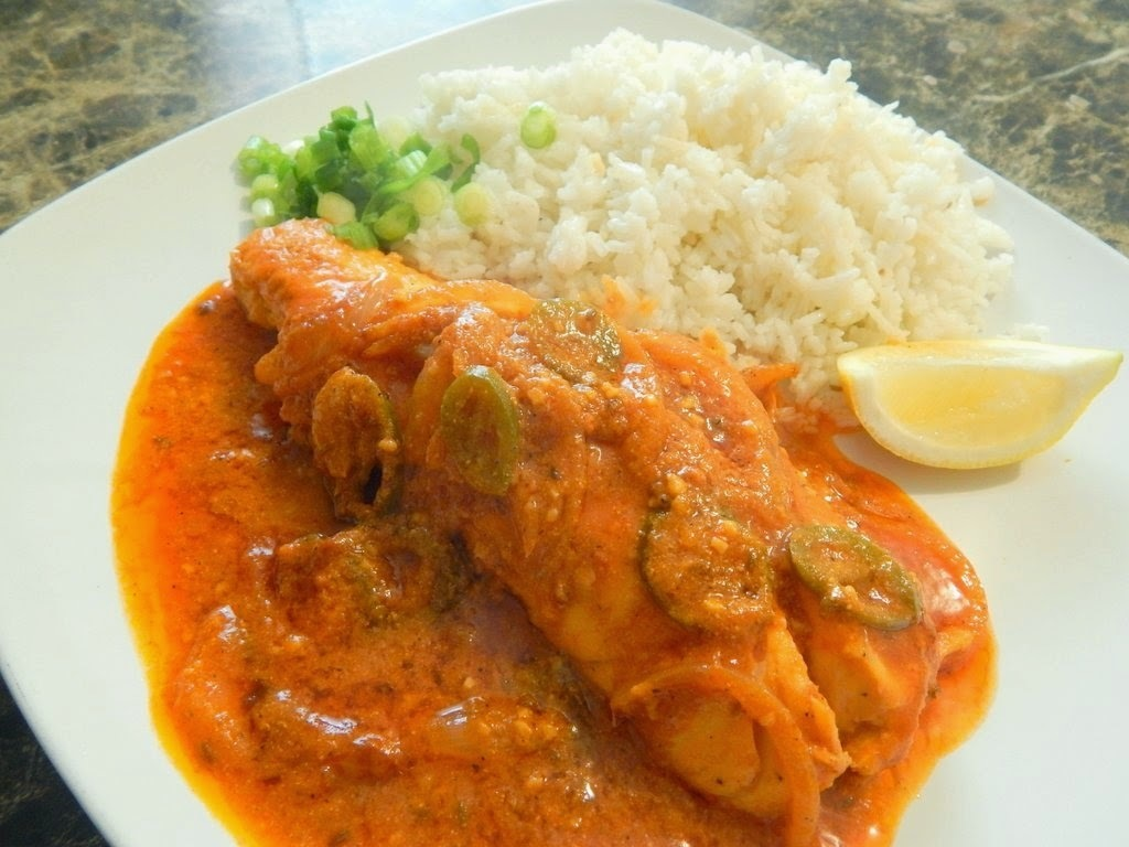 Spicy Tilapia Fish made In Jalapeno Curry Sauce