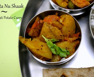 Batata Nu Shaak | Gujarati Style Potato Sabzi