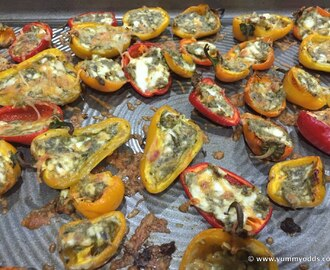 Stuffed Sweet Peppers ~ 3 Ingredient Recipes