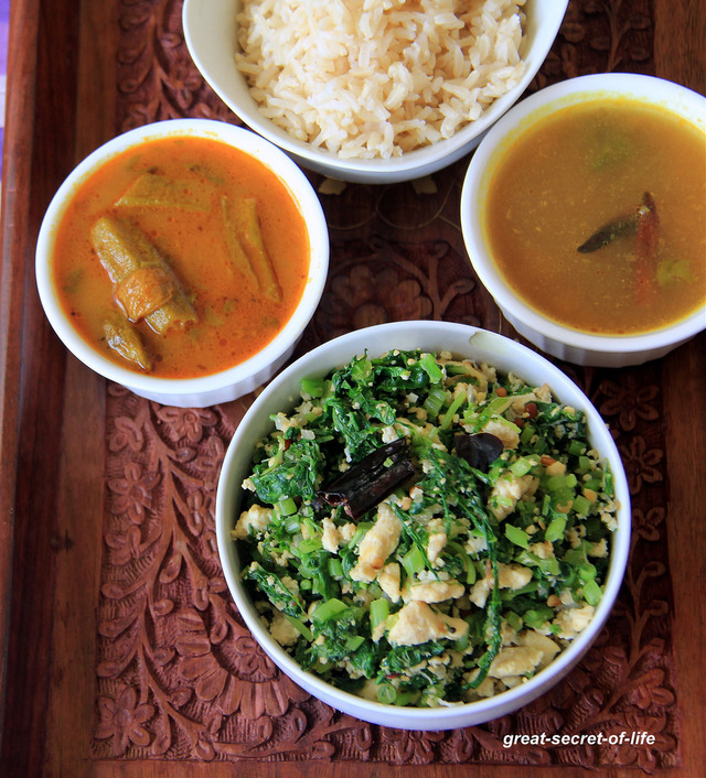 Keerai Tofu Recipe - Spinach with Tofu - Simple side dish for rice / Bread - Protein rich Vegetarian food - Healthy side
