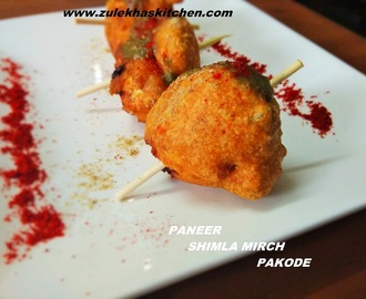 Recipe of Paneer shimla Mirch Pakode| Cottage Cheese Capsicum Fritters