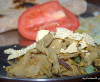 Methi Aur Papad ki sabzi (*translation*) Fenugreek and Papad curry :-)