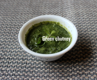 Green chutney (hari chutney) or coriander chutney recipe – green chutney recipe for sandwiches, chaats