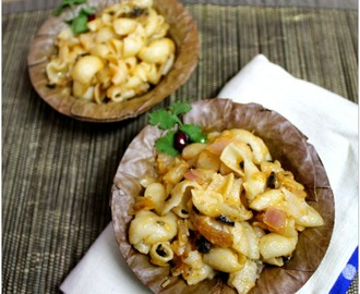 Cheesy Macaroni With Olives