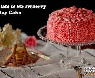 CHOCOLATE & STRAWBERRY BIRTHDAY CAKE Y SORTEOOOOOOOOOOOO