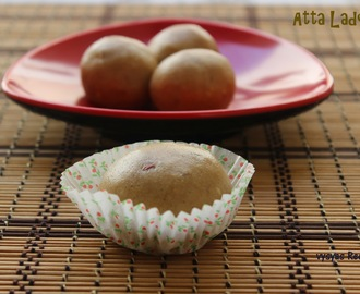 Atta Ladoo - Wheat Flour Ladoo - Easy Diwali Sweet Recipe