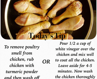 How to remove poultry smell from chicken